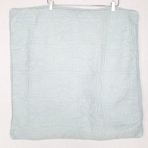 Nicole Miller Quilted Sham Pillow Cover Seafoam